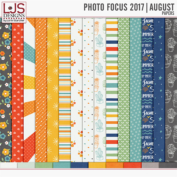 Photo Focus 2017 - August Papers Digital Art - Digital Scrapbooking Kits