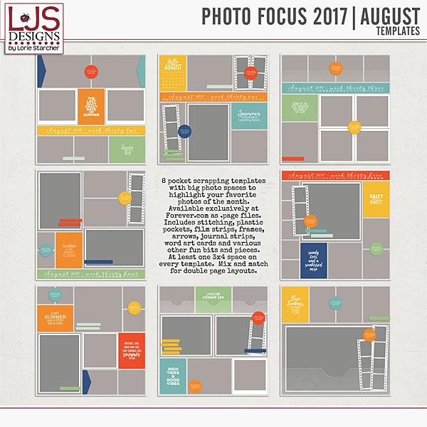 Photo Focus 2017 - August Templates Digital Art - Digital Scrapbooking Kits