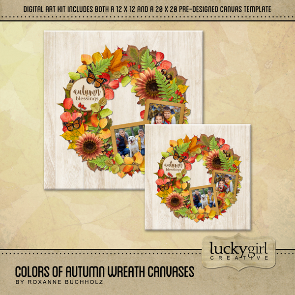 Colors Of Autumn Wreath Canvases