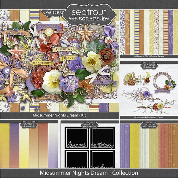 Midsummer Nights Dream Discounted Bundle Digital Art - Digital Scrapbooking Kits