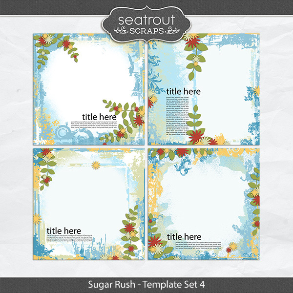 Sugar Rush Template Set 4