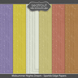 Midsummer Nights Dream Sparkle Edge Papers