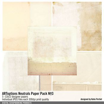 Artoptions Neutrals Paper Pack No. 03