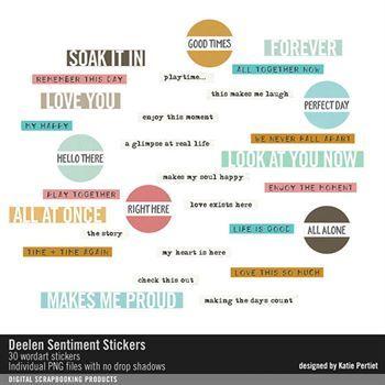 Deelen Sentiment Stickers