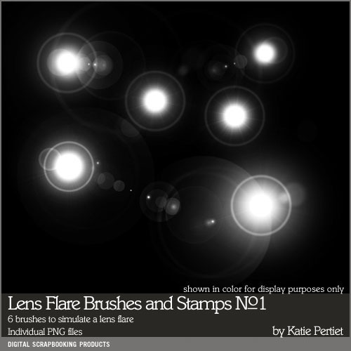 Lens Flare Brushes And Stamps No. 01