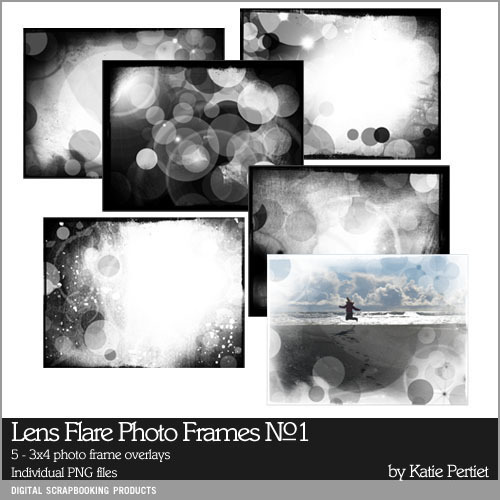 Lens Flare Photo Frames No. 01 Brushes And Stamps