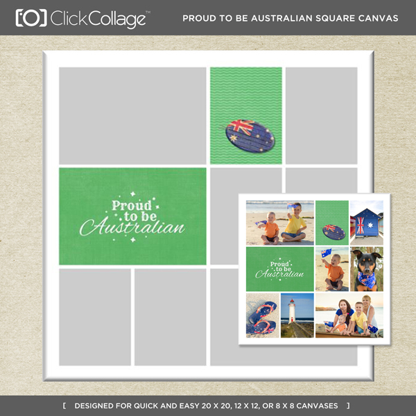Proud Australian Square Canvas