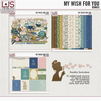My Wish For You - Bundle Digital Art - Digital Scrapbooking Kits