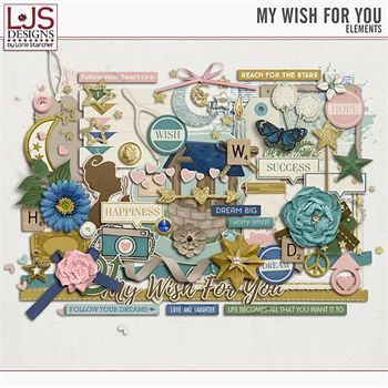 My Wish For You - Elements Digital Art - Digital Scrapbooking Kits
