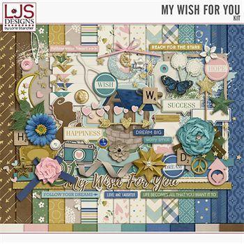 My Wish For You - Kit Digital Art - Digital Scrapbooking Kits