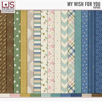 My Wish For You - Papers Digital Art - Digital Scrapbooking Kits