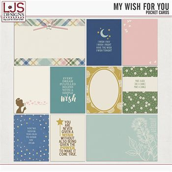 My Wish For You - Pocket Cards Digital Art - Digital Scrapbooking Kits