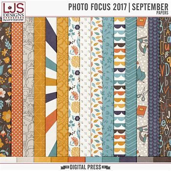Photo Focus 2017 - September Papers Digital Art - Digital Scrapbooking Kits