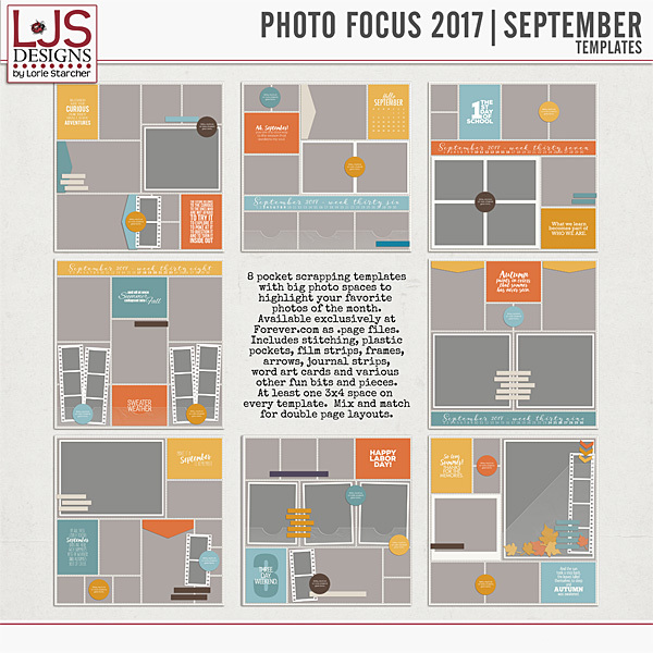 Photo Focus 2017 - September Templates Digital Art - Digital Scrapbooking Kits