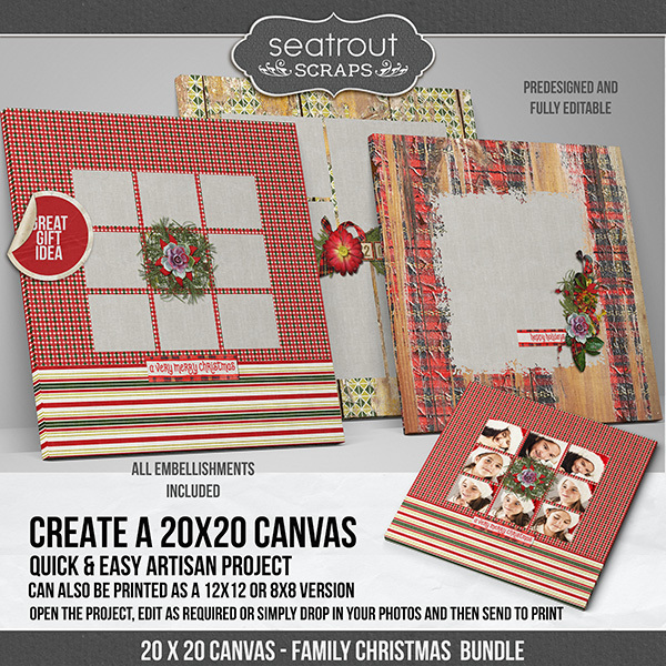 Family Christmas Canvas Bundle