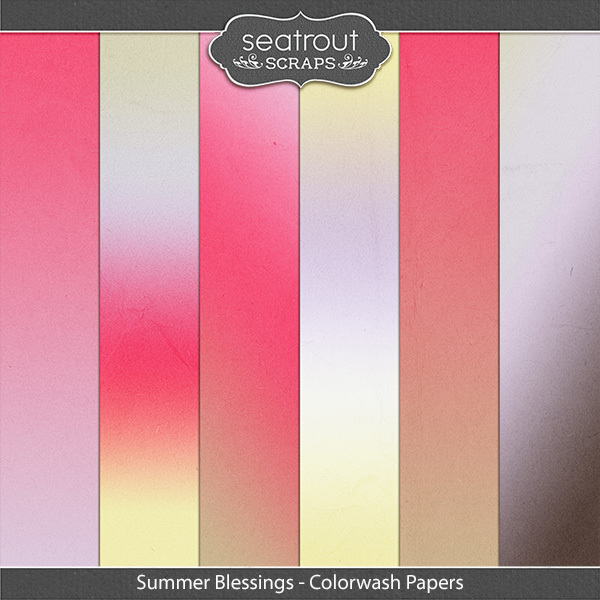 Summer Blessings Colorwash Papers