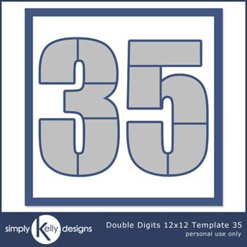 Double Digits 12x12 Template 35