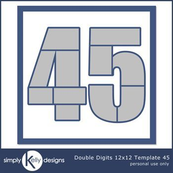 Double Digits 12x12 Template 45