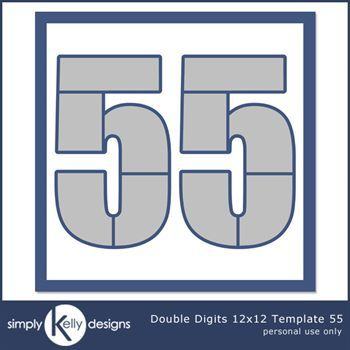 Double Digits 12x12 Template 55