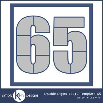 Double Digits 12x12 Template 65