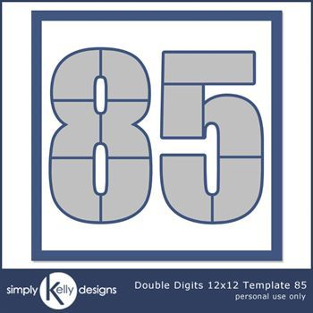 Double Digits 12x12 Template 85