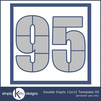 Double Digits 12x12 Template 95