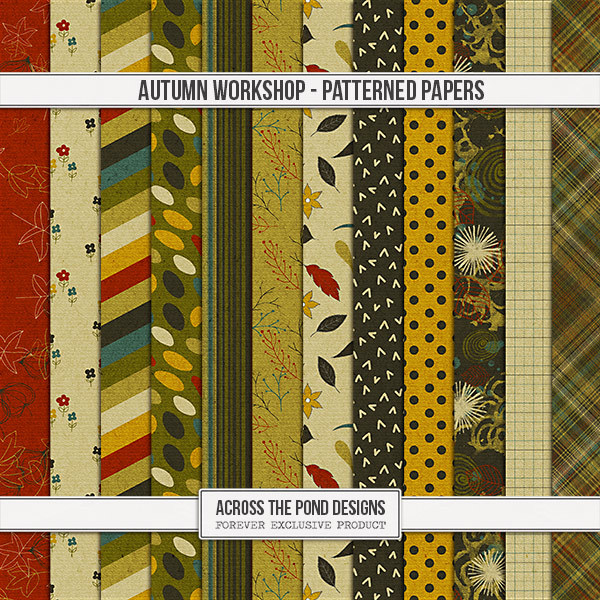 Autumn Workshop - Patterned Papers