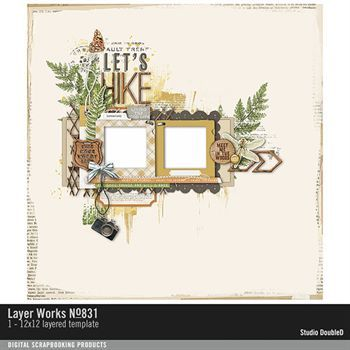 Layer Works No. 831 Layered Template