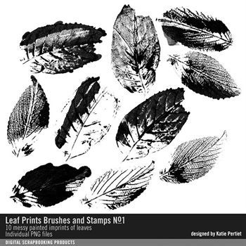 Leaf Prints Brushes And Stamps No. 01