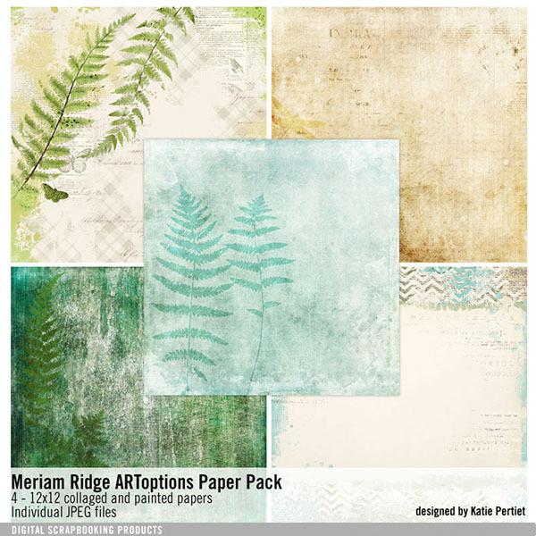 Meriam Ridge Artoptions Paper Pack Digital Art - Digital Scrapbooking Kits