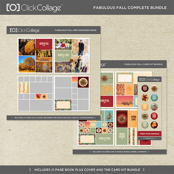 Fabulous Fall Pre-designed Book And Card Kit Bundle