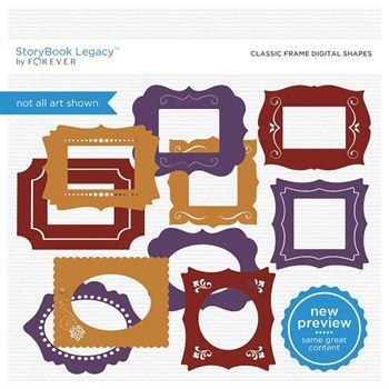 Classic Frame Digital Shapes Digital Art - Digital Scrapbooking Kits