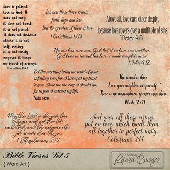 Bible Verses Set 5