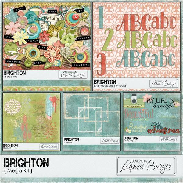 Brighton Mega Kit Digital Art - Digital Scrapbooking Kits