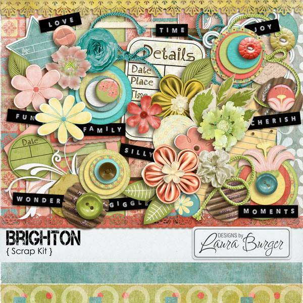 Brighton Scrap Kit Digital Art - Digital Scrapbooking Kits