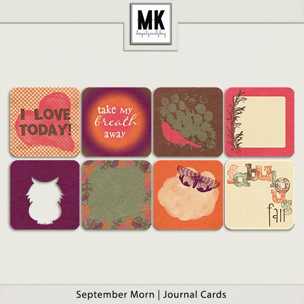 September Morn - Journal Cards