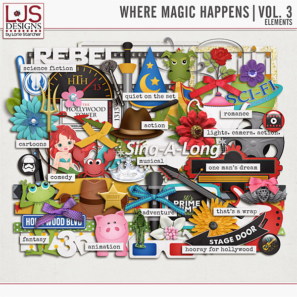 Where Magic Happens - Vol. 3 Elements Digital Art - Digital Scrapbooking Kits