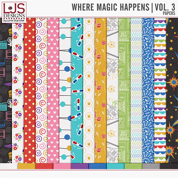Where Magic Happens - Vol. 3 Papers Digital Art - Digital Scrapbooking Kits