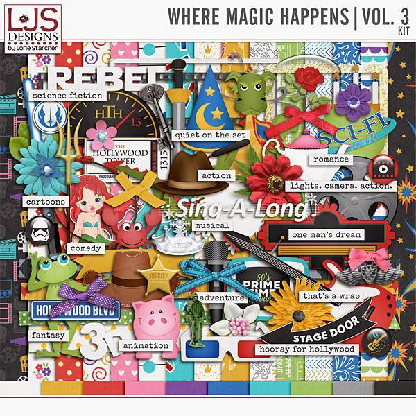 Where Magic Happens - Volume 3 Kit Digital Art - Digital Scrapbooking Kits