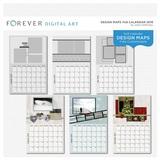 Forever Design Maps 11x8.5 Calendar 2018
