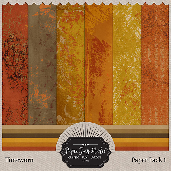 Timeworn - Paper Pack 1 Digital Art - Digital Scrapbooking Kits