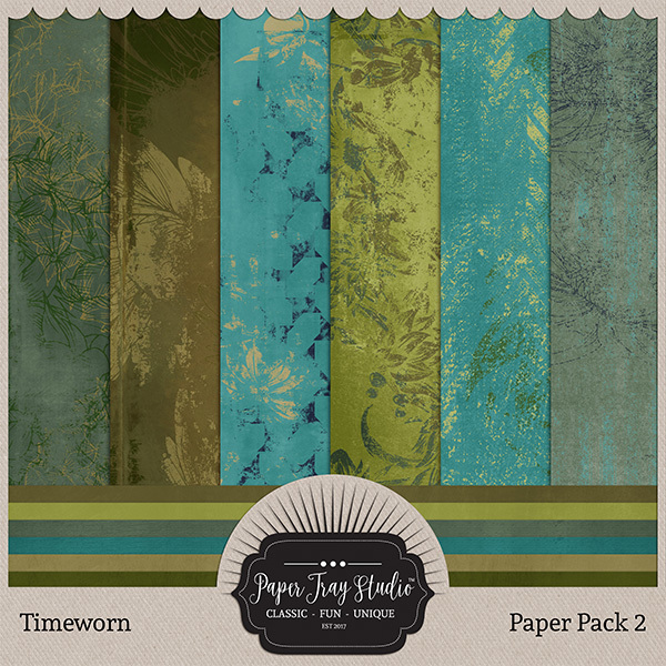 Timeworn - Paper Pack 2 Digital Art - Digital Scrapbooking Kits