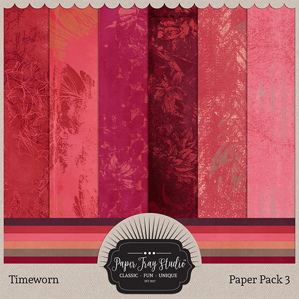 Timeworn - Paper Pack 3 Digital Art - Digital Scrapbooking Kits