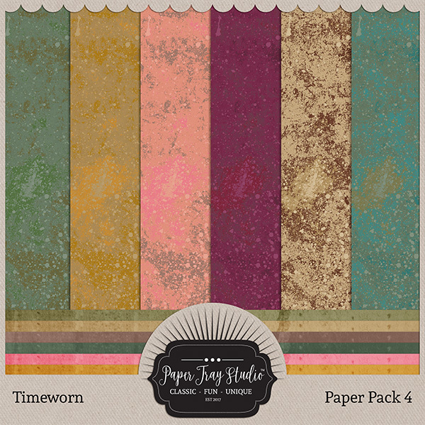 Timeworn - Paper Pack 4 Digital Art - Digital Scrapbooking Kits