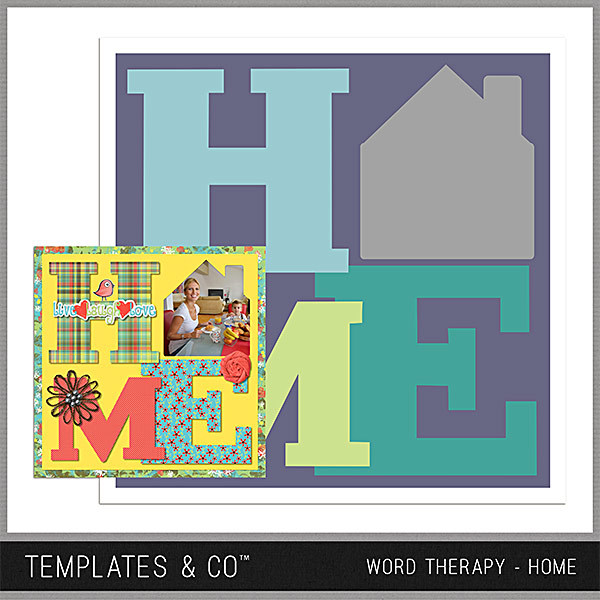 Word Therapy - Home Digital Art - Digital Scrapbooking Kits