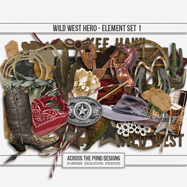 Wild West Hero - Element Set 1
