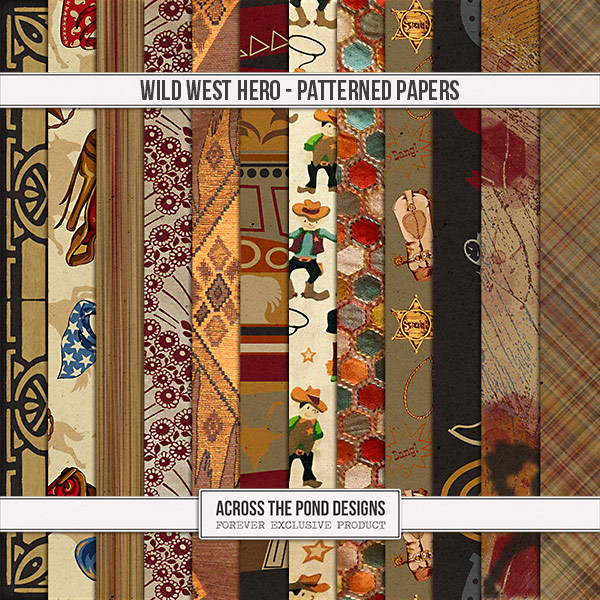 Wild West Hero - Patterned Papers