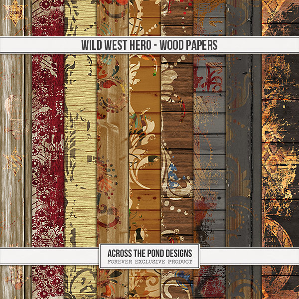 Wild West Hero - Wood Papers