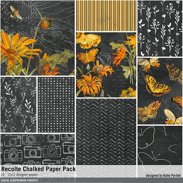Recolte Chalked Paper Pack