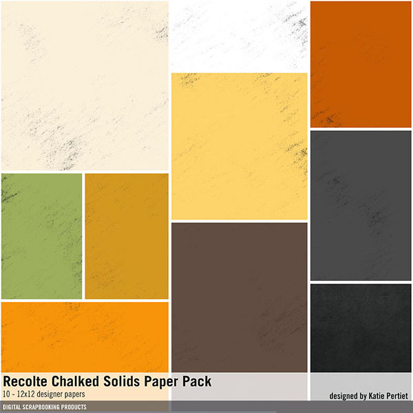 Recolte Chalked Solids Paper Pack